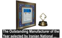 The Outstanding Manufacturer of the Year selected by Iranian National Standards Organization in 2017-2018